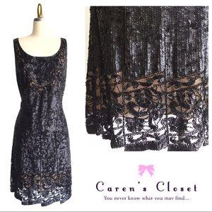 Carmen Marc Valco Black Label Sequin Dress
